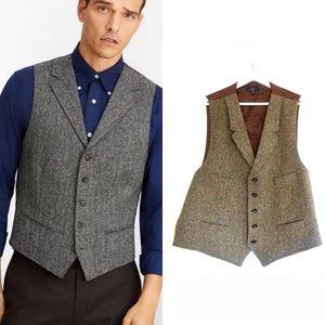 Brooks Brothers Five-Button Herringbone Tweed Vest